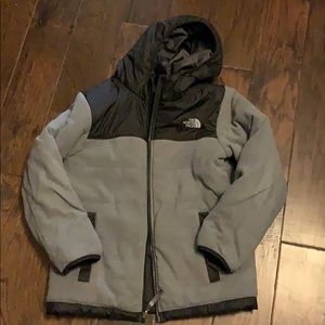 North Face Reversible hooded coat size Large 12-14